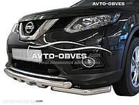 Защита переднего бампера модельная для Nissan X-Trail 2014-..