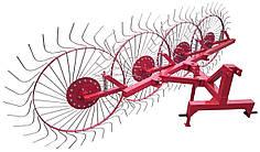 Грабли колесно-пальцевые Солнышко на 4 колеса