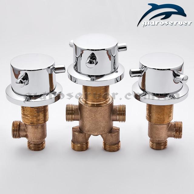 Набор кранов и смесителя переключателя для гидромассажных ванн, джакузи J - 7010.