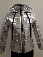 Весна 2018 детская демисезонная подростковая курточка на девочку Ника серебро