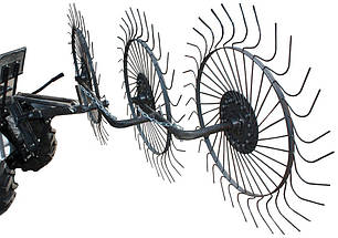 Грабли Солнышко для мототрактора на 3 колеса Полтава, фото 2