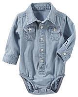 Боди-рубашка с длинным рукавом OshKosh для мальчика