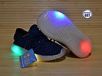 Кроссовки мокасины размеры 21-23 светится вся подошва, фото 1