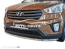 Защита бампера Hyundai Creta 2016 - ... одинарный ус