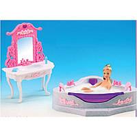 """Мебель для куклы """"Gloria"""" 2613 для ванной,джакузи,умывальник с зеркалом, в кор."""