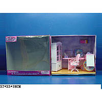 "Мебель для куклы ""Gloria"" 24018GB для офиса,комп,письм стол,стул,полка,шкаф,аксесс,в кор. 37*18*33"
