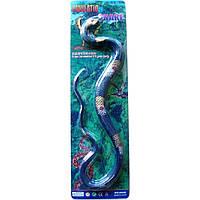 Животные резиновые-тянучки DE-001-090A длина змеи 100 см, на планшетке 53,5*15,3 см