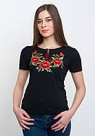 Черная футболка с вышивкой, арт. 5120 к.р.