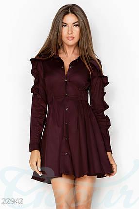 Осеннее платье рюши, фото 2
