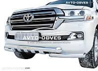 Защита переднего бампера модельная для Toyota LC200 2016-…