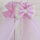 Комплект постельного белья Asik с вышивкой Три сердца розового цвета 7 предметов (88-04), фото 4