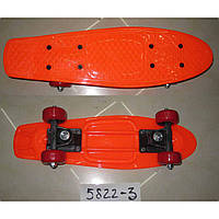 Скейт 5822-3 пластик. крепление,колеса PVC, 42*13 см,6 цветов
