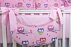 Комплект постільної білизни Asik Кольорові сови і горошок на рожевому тлі 8 предметів (8-243), фото 3
