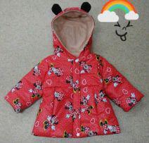 Куртка осенняя детская с ушками для девочек