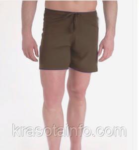 Шорты для йоги и бега на завязках коричневые