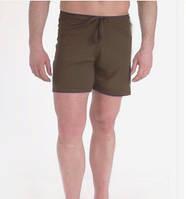 Шорты для йоги и бега на завязках коричневые, фото 1