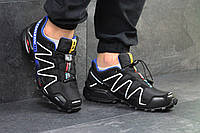 Кроссовки мужские черные с белым Salomon Speedcross 4605