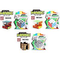 Кубик Рубика 043/040/041 с таймером, 3 вида, на блистере
