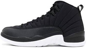 Мужские кроссовки Nike Air Jordan 12 XII Retro Black Nylon (люкс копия)