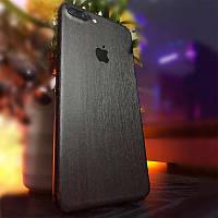 Черный Шлифованный Металл на iPhone 7 Plus Скин Виниловые Наклейки Защитная Пленка под Метал 3D Винил Стикер