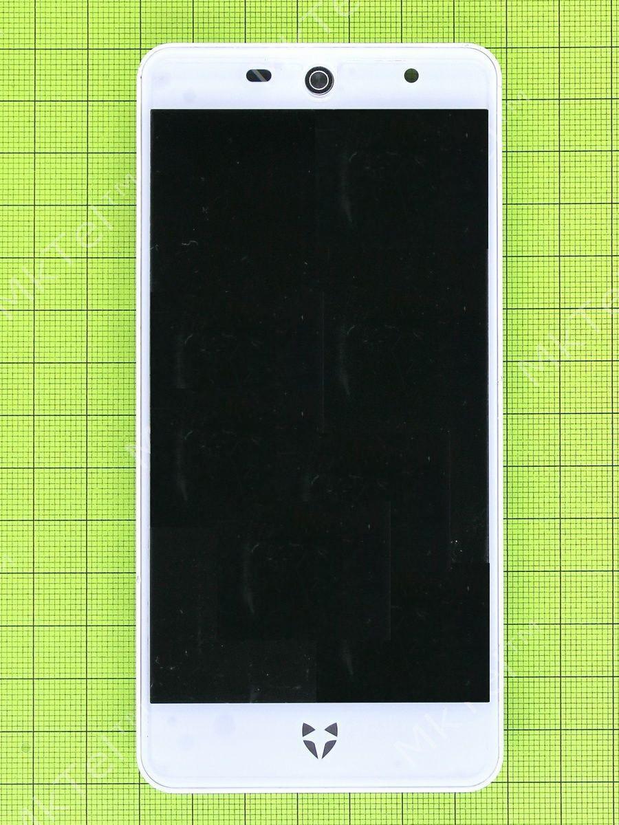 Дисплей (LCD) WileyFox Swift 2/ Swift 2 Plus с сенсором белый