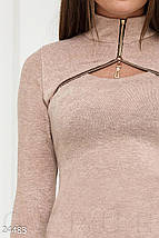 Оригинальное теплое платье, фото 2