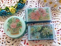 Мыло открытка Цветы ручной работы 8 Марта