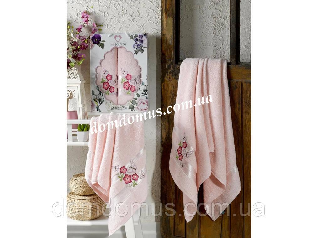 """Подарочный набор полотенец """"Samantha"""" TWO DOLPHINS, Турция 0132"""