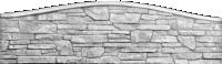 """Еврозабор """"Карпатский камень"""" односторонний арка"""