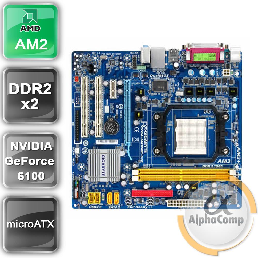 Материнская плата Gigabyte GA-M61PME-S2P (AM2+/GeForce 6100/2xDDR2) БУ