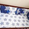 Бортики-защита в кроватку + простынка на резинке