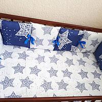 Бортики-защита в кроватку + простынка на резинке, фото 1