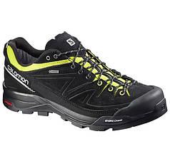 Мужские кроссовки Salomon X ALP GTX (379266) черные кожаные