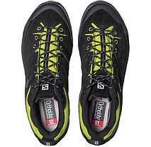 Мужские кроссовки Salomon X ALP GTX (379266) черные кожаные, фото 3