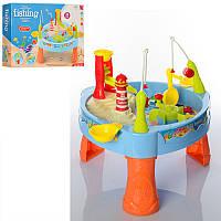Игровой Столик-Рыбалка 889-68, морские обитатели 6шт, 24 предмета, звук, свет, на батарейках