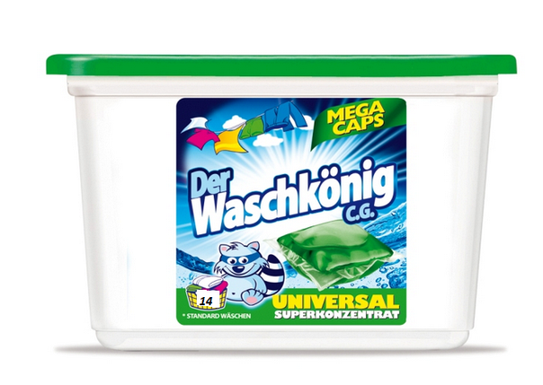 Капсулы для стирки Waschkonig universal, 14 шт. Германия, фото 2