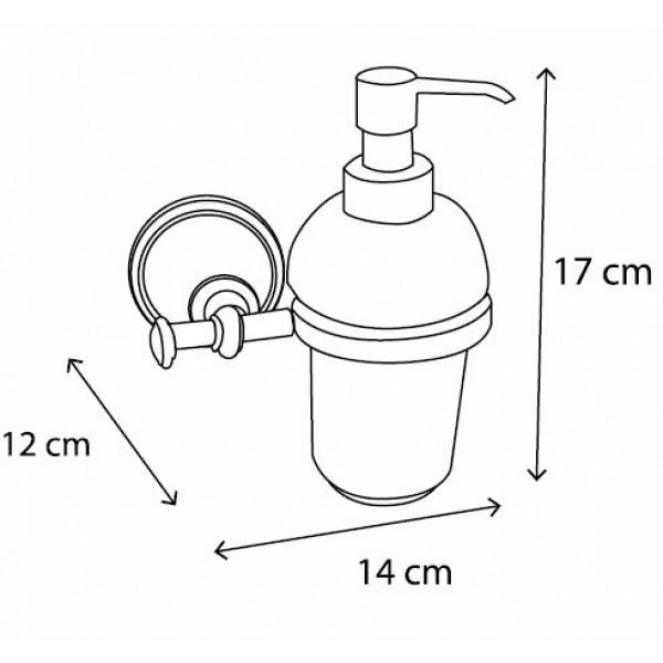 bianchi Дозатор для жидкого мыла Bianchi Classic ACBCLA040000ORO, золото