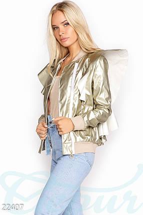 Стильная куртка-бомбер, фото 2