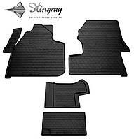 Volkswagen crafter (1+1) 2006- комплект из 4-х ковриков черный в салон.