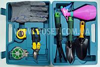 Набор инструментов для сада и огорода 9 предметов в кейсе