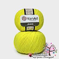 Пряжа Джинс Jeans YarnArt, №58, желтый неон