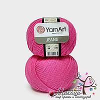 Пряжа Джинс Jeans YarnArt, №59, малиновый