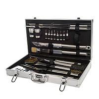 Набор инструментов для БАРБЕКЮ Fissman (Алюминиевый чемодан, 21 прибор из нержавеющей стали)