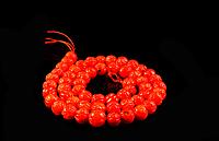 Заготовка из резного красного коралла, шар 7мм