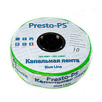 Капельная лента Presto-PS щелевая Blue Line отверстия через 10 см, расход воды 2,2 л/ч, длина 500 м (BL-10-500), фото 1