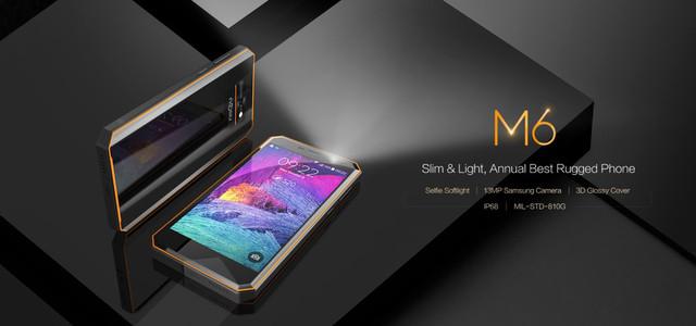 NOMU M6 - самый тонкий и стильный противоударный смартфон