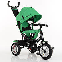 Велосипед M 3113A-N4 (1шт)три кол.резина (12/10),колясочный,своб.ход колеса,тормоз,подшипн,зеленый