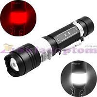 Фонарь Police X5-T6, zoom, 1x18650, ЗУ USB, светильник, зажим, комплект**