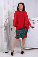 Шикарное платье с шифоновой накидкой , фото 1