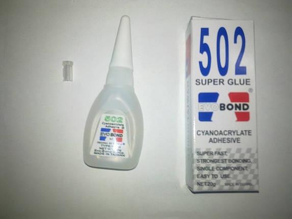 Клей моментальный (Суперклей) 502 EVOBOND, 20 г., фото 2